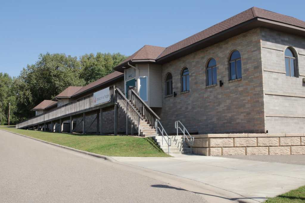 Beacon of Hope Church occupies this unusual building at 850 Terrace Court. The first business is Beacon of Hope Church, which occupies all of the unique 850 Terrace building.