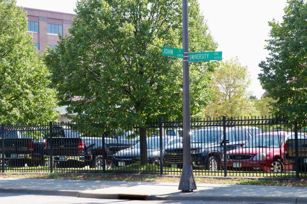 John Street is less than a block long.