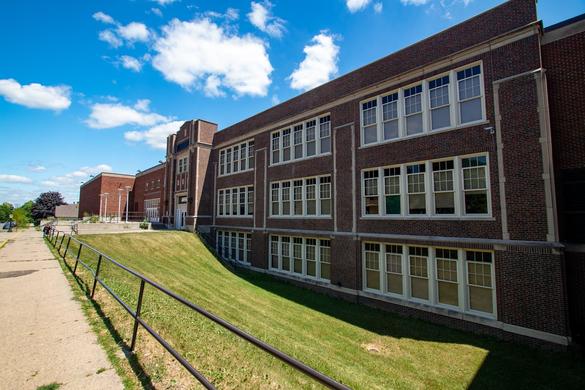 The Galtier Street side of Wellstone Elementary.