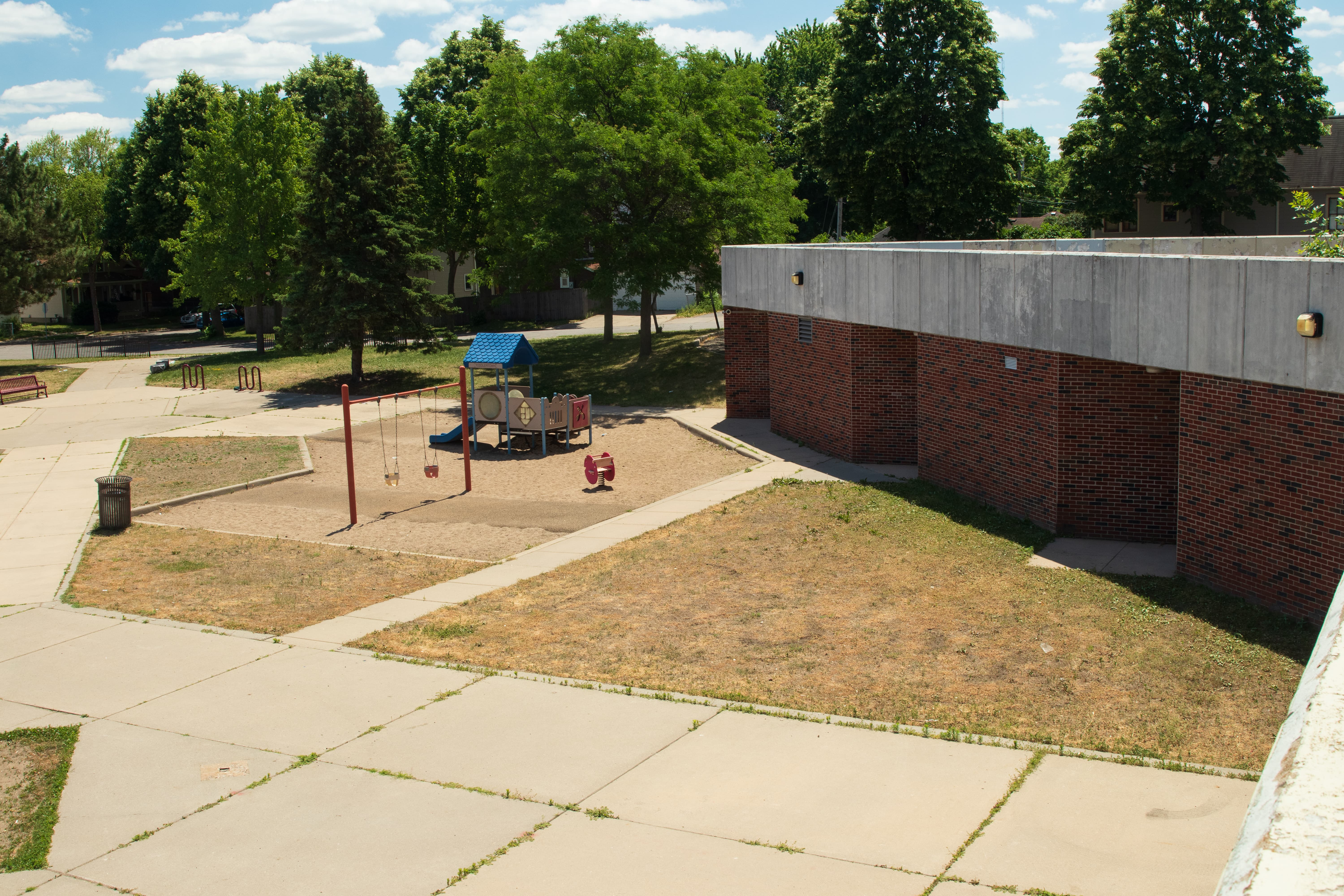 Rice Recreation Center is connected to the southeast corner of Wellstone Elementary via a tunnel. Built in 1977, it has far outlived its usefulness.